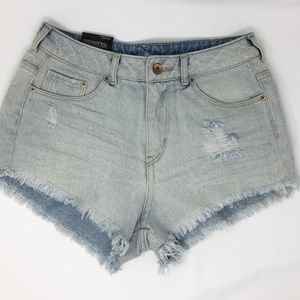 35004f3d1 Hollister Shorts | Jean Fray Hem Cutoff Distressed | Poshmark